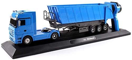 Xbswhm Camión Volquete de 10 Ruedas RC de 2.4ghz, 1:32, Camión Eléctrico Inclinable, Vehículo Elevador Automático, Juguetes Electrónicos para Pasatiempos, Camiones para Niños Adultos,Azul