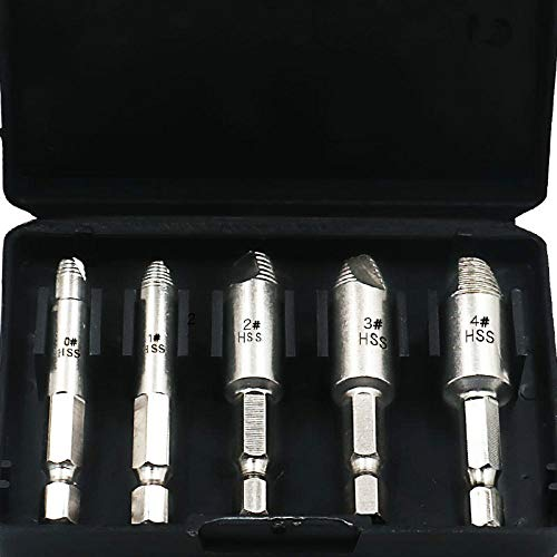Llave LCDIEB Extractor de tornillos dañados de doble punta Extractores de tornillos de cabeza rotos rotos Extractor de tornillos de madera Herramienta de perforación 1 # 2 # 3 # 4 #