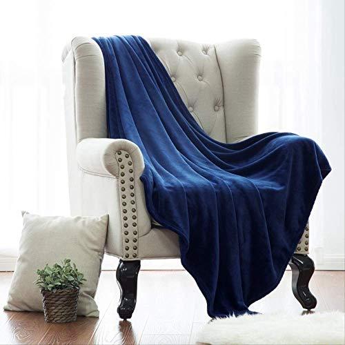 Varma enkla filtar för vinter, flanell filt kampanj gåva vanlig filt, stickad filt för soffa och säng 150 x 210 cm A