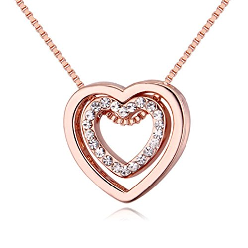 Gluckliy Crystal Double Heart...