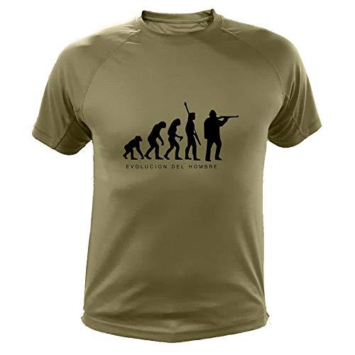 AtooDog Camiseta de Caza, Evolucion del Hombre - Regalos para Cazadores (30172, Verde, L)