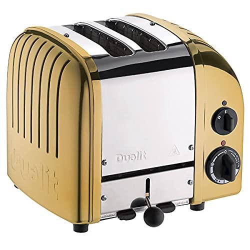 Dualit Classic Vario AWS-Toaster mit 2 Schlitzen, Messing