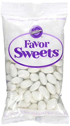 Wilton Jordan Decorative Almonds, 16-Ounce, White