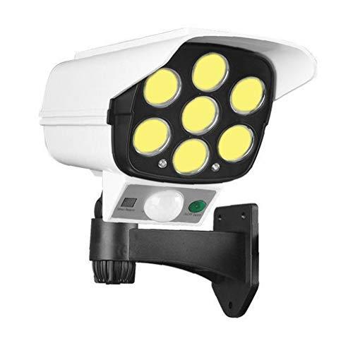 Simulada del CCTV cámara de Seguridad cámara Falsa Sistemas Aire Libre accionado Solar de la simulación de luz con Sensor de Movimiento PIR LED Parpadeante 77 COB