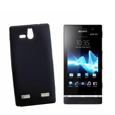 Custodia protettiva compatibile con Sony Xperia U, in silicone, per Xperia U, colore nero