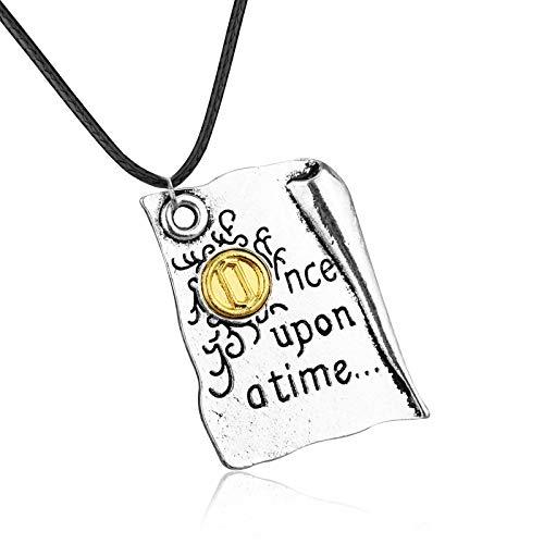guodong Andersens Märchen Märchenbücher Halskette Schmuck Es war einmal Märchenstadt Bücher Anhänger Halskette