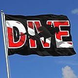 Zudrold Banderas al Aire Libre Scuba Diving Dive Diver Bandera para fanáticos de los Deportes Fútbol Baloncesto Béisbol Hockey