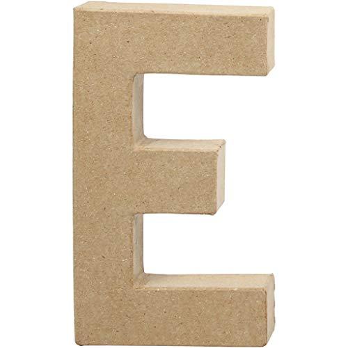 Creativ Pappmaché-Zahl, 20 cm, 1 Stück, beige, 1