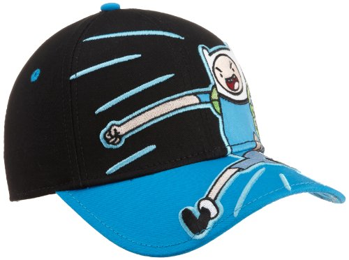 Adventure Time Big Boys' Finn Youth Hat, Black. One Size