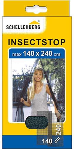 Schellenberg 20509 Moustiquaire pour portes contre insectes/moustiques 140 x 240 cm Anthracite