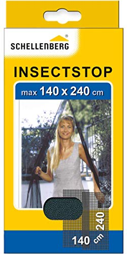 Schellenberg 20509 Fliegengitter für Türen Fliegenvorhang für Balkontür & Terrassentür, Maße 140 x 240 cm, einfache Montage ohne bohren, inkl. Befestigungsband und Gewichte