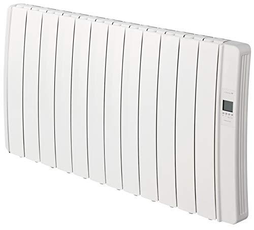 Gabarrón, DIL12GC Emisor eléctrico DILIGENS CON WIFI, Digital programable, 1500W, Blanco