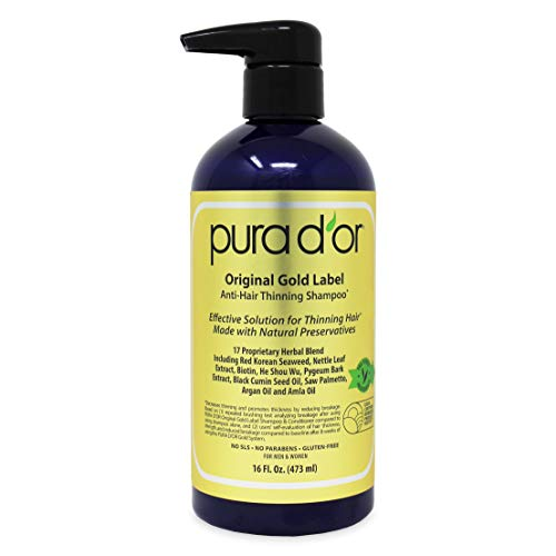 PURA D'OR Original Gold Label Anti-Thinning Biotin...