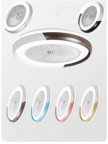 Luces de fan de colores, velocidad regulable y de viento, ajustable, control remoto/aplicación de la luz de control, ventilador de techo de silencio