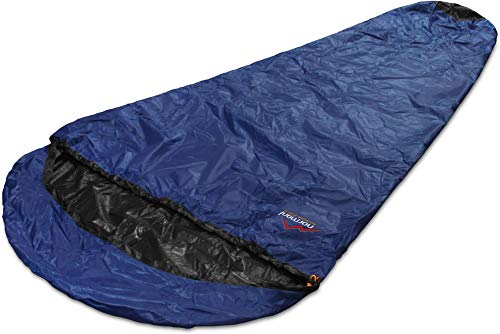 normani Schlafsacküberzug Biwaksack - 100% Wind- und wasserdicht, Atmungsaktivität: 3000 MVP [230 cm x 90 cm] Farbe Navy Größe 230 x 90 x 60 cm - RV Rechts