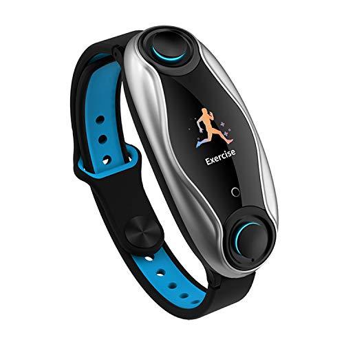 xfyx Reloj Inteligente con Auricular Bluetooth, Pulsera Inteligente combinada inalámbrica, rastreador de música para Correr, Reloj Deportivo Impermeable
