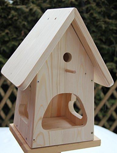 Dekorativer Nistkasten(NB2)-mit Vogelfutterhaus zum selbst Bauen-Bausatz-Vogelhaus-Vogelhäuschen-sauberste Verarbeitung-Vogelhaus Garten Deko