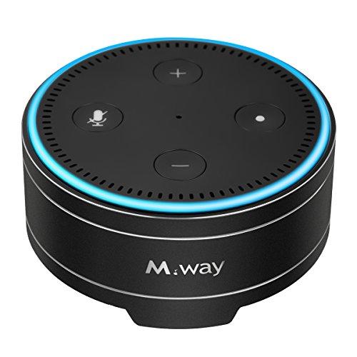 Lautsprecherständer, M.Way Echo Dot Hülle, Lautsprecher Halter Case für Amazon Alexa Echo Dot 1. und 2. Generation schützende und langlebige Echo Dot Stand Halter für Alexa Silber Schwarz