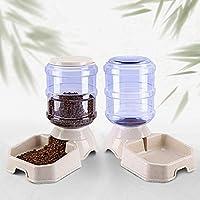 自動ペットフィーダー、食品ディスペンサー、ペット猫犬の自動給水器や食品フィーダー3.8 L (Color : Beige)