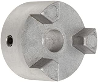 Lovejoy 56137 Size AL075 Jaw Coupling Hub, Aluminum, Metric, 20 mm Bore, 44.45 mm OD, 20.574 mm Length Through Bore, No Keyway