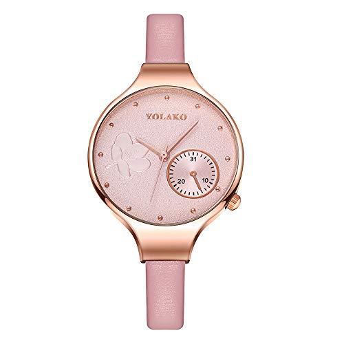 Relojes para Mujer de primeras Marcas Mujer Reloj de Pulsera de Cuarzo para Mujer Reloj Impermeable de Cuero para niñas Relojes de Pulsera Casuales