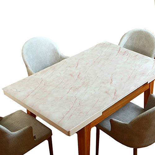 MU Kaffeetisch Tischdecke, Plastiktischdecke, pflegeleicht PVC-Tischset Anti-Kaffeefleck Küchenparty Hochzeit, Restaurant Tischdecke,100 × 100 cm