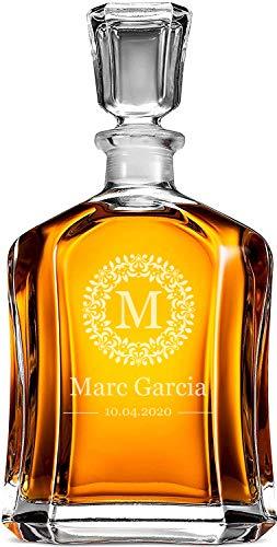 Decantador de Whisky personalizado, tamaño 700ml, inauguración de la casa, boda - Gran regalo para hombres, mujeres, parejas