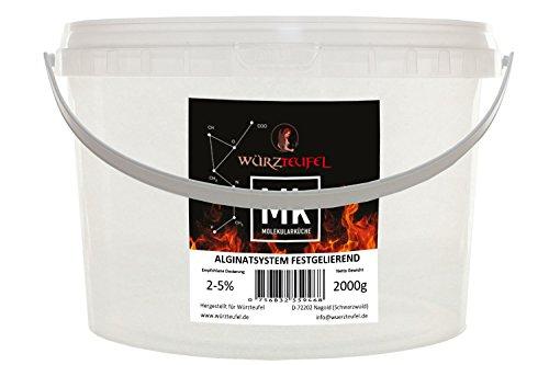 Alginat, Fest gelierendes Alginat – System mit Natriumalginat, Molekulare Küche. PE - Eimer 2000g. (2,0 KG)