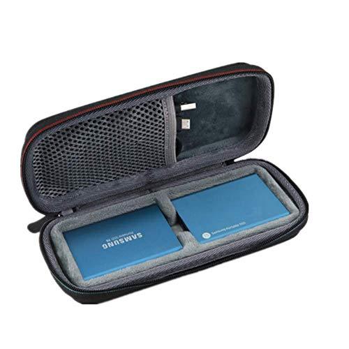 Yuhtech Schutzhülle Tasche für Samsung T3 / Samsung T5 Portable SSD 250GB 500GB 1TB 2TB T3 T5 Reisetasche