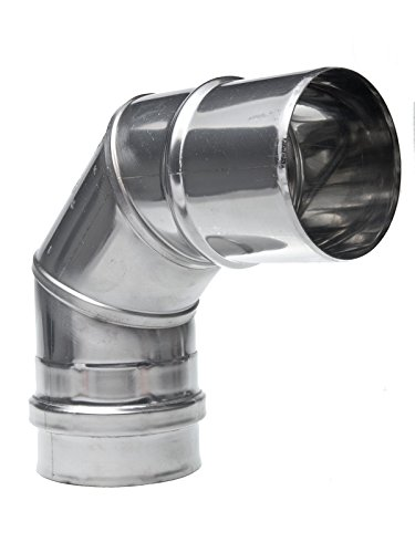 Winkel Edelstahl DN 110x87 110mm Schornstein Sanierung Rauchrohr Ofenrohr Abgasrohr