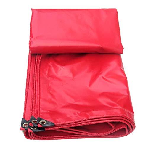 XU FENG Rotes verdicktes regensicheres Tuch-Planen-Hochleistungs, wasserdichtes Blatt-Abdeckungs-Boden, verdickte Fahrrad-Auto-Plane, PVC-Planen-Blatt für das Kampieren,...
