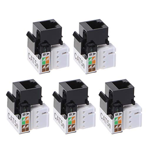 5 unidades CAT5E UTP módulo de red RJ45 Conector Información Hembra Keystone Cable Ethernet