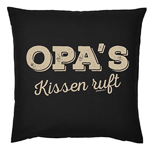 Geschenk für Opa Kissen mit Füllung Opas Kissen ruft Weihnachtsgeschenk Geburtstag Großvater Polster Sofakissen Vatertag