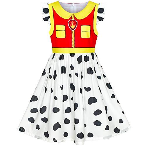 Sunboree Mädchen Kleid Pfote Patrouillieren Marshall Kostüm Halloween Party Gr. 110