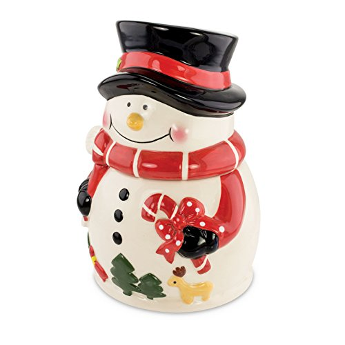 KOVOT Snowman Cookie Jar   Ceramic Snowman Holiday Treats Jar   Measures 9'H x 6'W