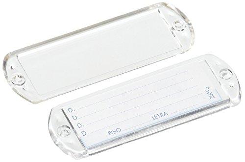 Btv - Juego tarjetero plastico 65x25mm transparente(10u)