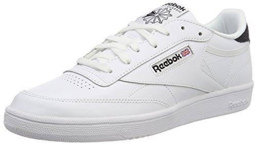 Reebok Club C 85 Emboss, Scarpe da Ginnastica Basse Donna, Bianco (White/Black), 39 EU