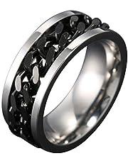 Boji Spinner pierścionek ze stali nierdzewnej, dla mężczyzn i kobiet