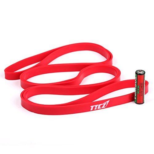Andux Zone Rendimiento Potencia Band, Pull-up Bandas de Resistencia para Crossfit, Gimnasia, Power-elevación TLD-12 (Rojo (10-22lbs))