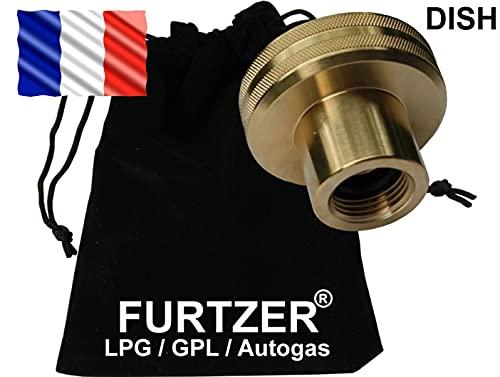 Furtzer Adaptateur Dish de réservoir de gaz GPL pour Bouteilles de gaz Adaptateur de Propane Parfait pour Les Bouteilles de gaz France!