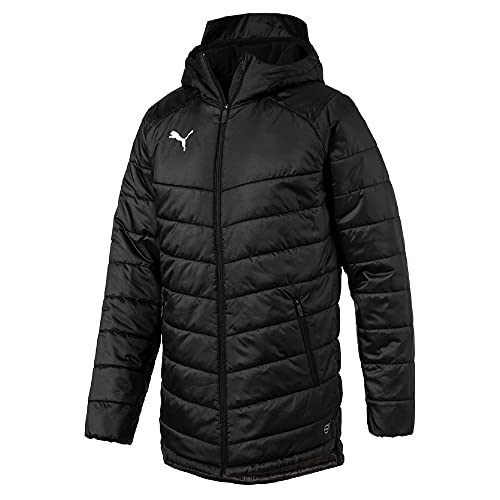 Puma Herren Liga Sideline Bench Jacket Jacke, Black White, L
