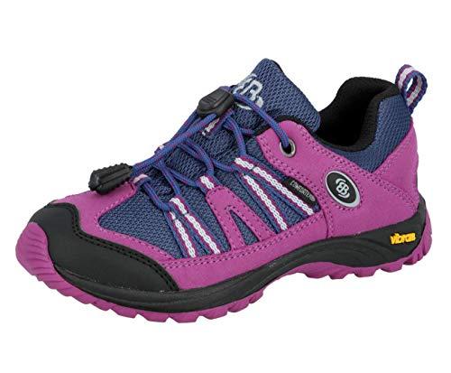 Brütting Unisex - Kinder Sport- und Outdoorschuhe Ohio Low,Outdoor Schuhe,lose Einlage,wasserdicht,atmungsaktiv, Schnellverschluss,pink/lila,33 EU