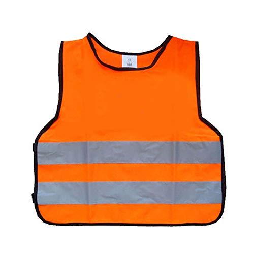 YYTL Gilet Réfléchissant pour Enfants, Gilet De Sécurité Réfléchissant pour Gilet Réfléchissant Haute Visibilité (Color : Orange(XS), Size : 1 Pack)