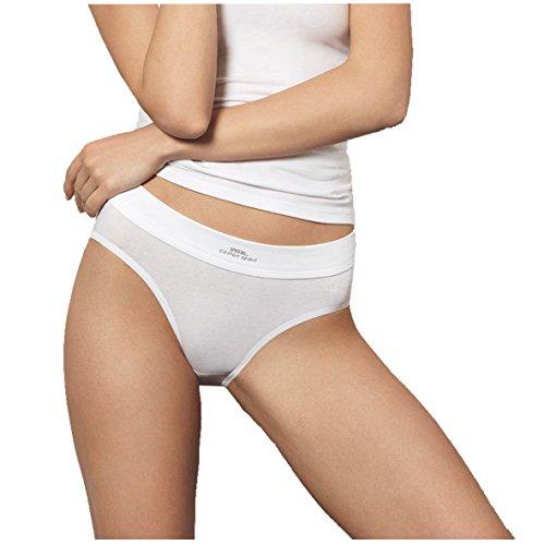Speidel Damen Cotton Sport Bikinislip 5er Pack 9360 Größe 38, Farbe weiß