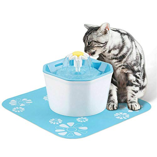 X&hui Automatische waterdispenser voor huisdieren, katten en honden, fontein, 3 soorten waterdoorstroming, elektrische circulatie, waterzuivering, stuwen, 1,6 l