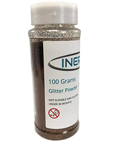INERRA Glitter 100g Tub - Fijn poeder voor bloemisten kunst & ambachten 100g Koffie