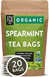 Organic Spearmint Leaf Tea Bags | 20 Tea Bags | Eco-Conscious Tea Bags in Kraft Bag | Raw from USA |...