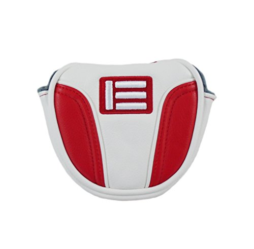 Evnroll New Red/White Magnetic Small Mallet Putter Headcover