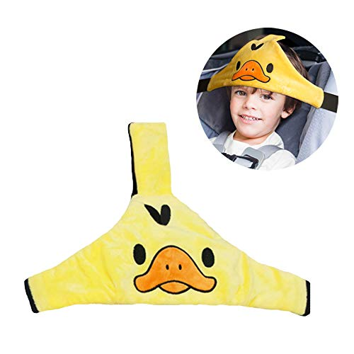 Baby Carseat Head Support Car Seat Head Band Strap Headrest Stroller Car Seat Sleeping Head Support for Toddler Child Children Kids Infant (Yellow)