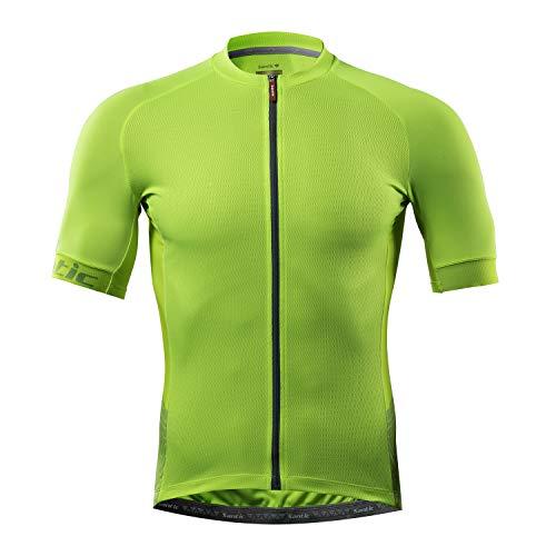Santic Cycling Jerseys for Men Short Sleeve Cycling Tops Mens Biking Jersey Cycling Shirts Breathable Yorkson Green